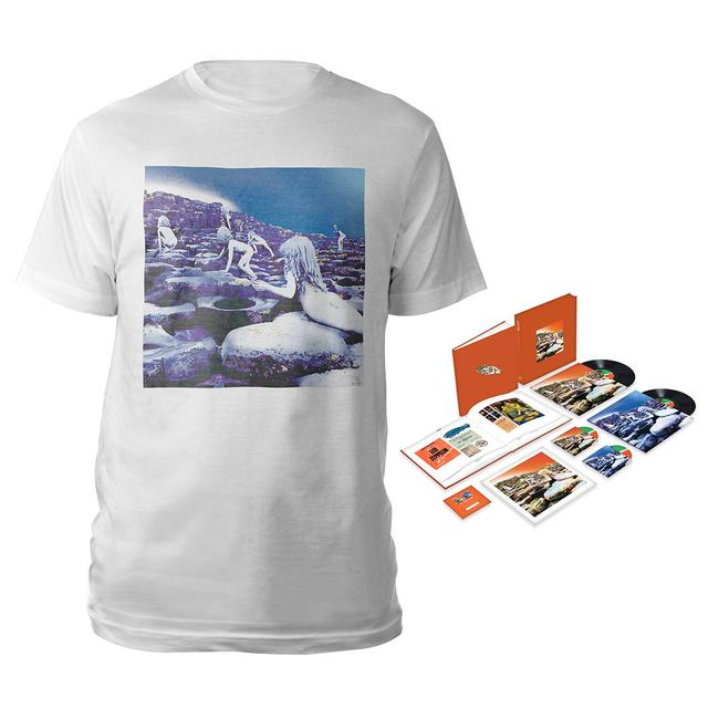 Led Zeppelin Houses Of The Holy Super Deluxe Edition Box Set + Companion Album White T-Shirt