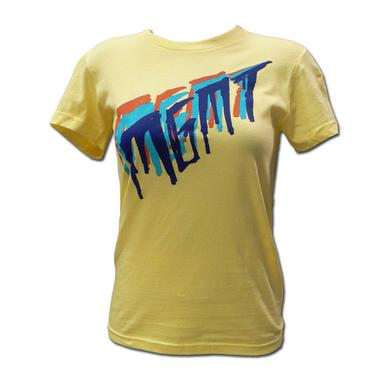 Mgmt Girl's Tri-Color Scratch on Yellow T-shirt