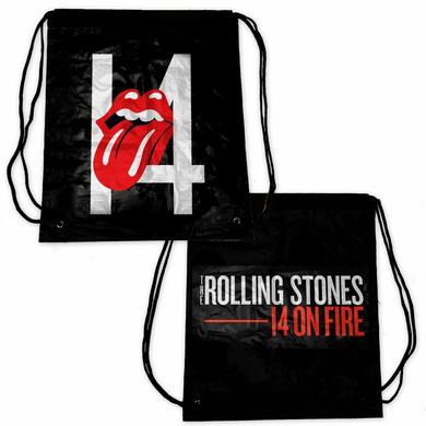 Rolling Stones 14 On Fire Drawstring Bag