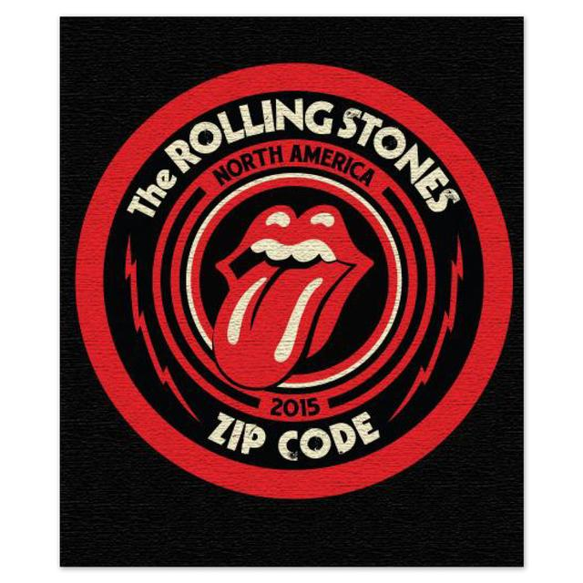 Rolling Stones Zip Code Tour Logo Blanket