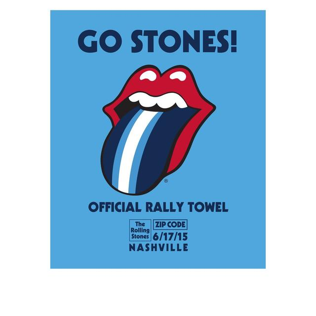 Rolling Stones Nashville Event Rally Towel