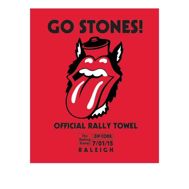 Rolling Stones Raleigh Event Rally Towel