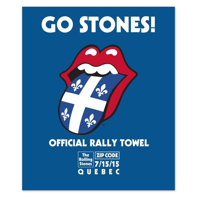 Rolling Stones Quebec Rally Towel