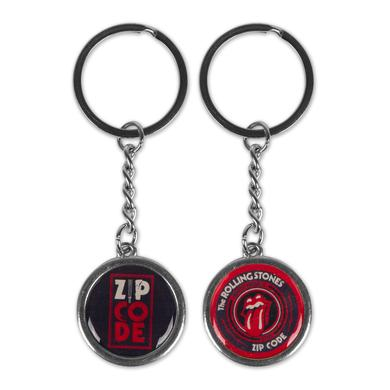 Rolling Stones Zip Code Double Sided Logo Keychain