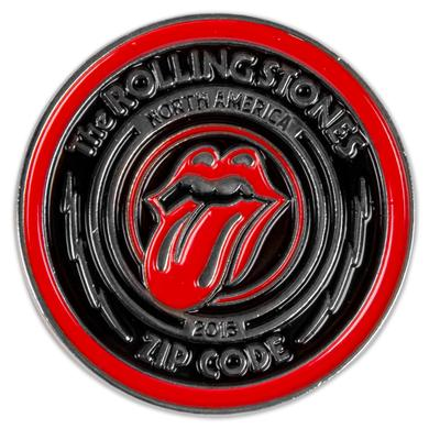 Rolling Stones Zip Code Lapel Pin