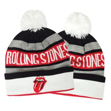 Rolling Stones Holiday Pom Pom Hat