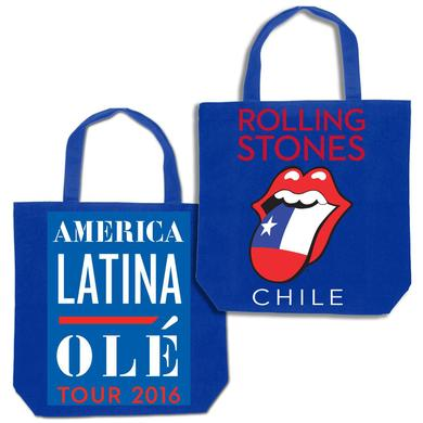 The Rolling Stones RS Chile Flag Tongue Tote
