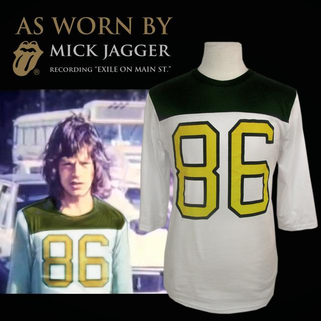 The Rolling Stones 86 Football Jersey As Worn By(TM) Mick Jagger