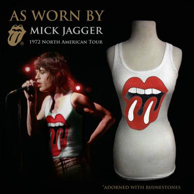 "The Rolling Stones ""72 Sequin Licks"" (Juniors) Tank As Worn By(TM) Mick Jagger"