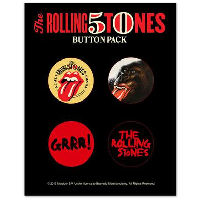 The Rolling Stones 50th Button Pack