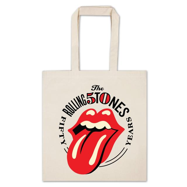 rolling stones 50th anniversary tote