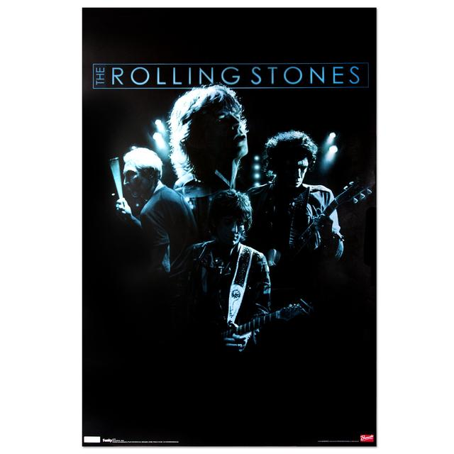 Rolling Stones Glow Poster