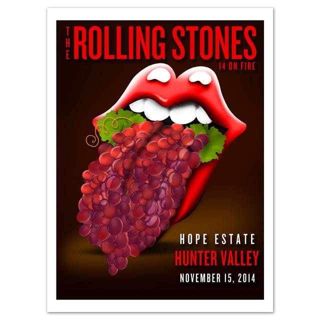 Rolling Stones Hunter Valley Grapes Litho