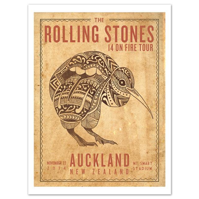 Rolling Stones Auckland Kiwi Litho
