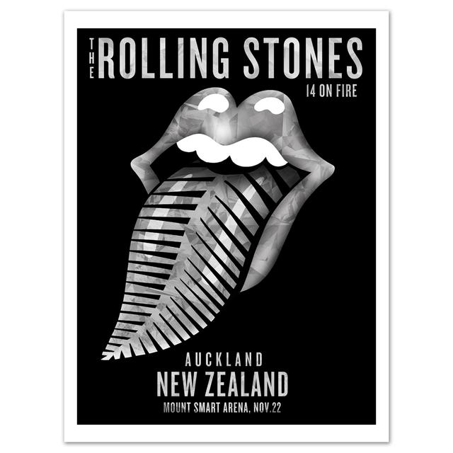 Rolling Stones Auckland Silver Fern Litho