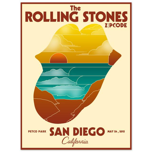 Rolling Stones San Diego Sunset Event Litho