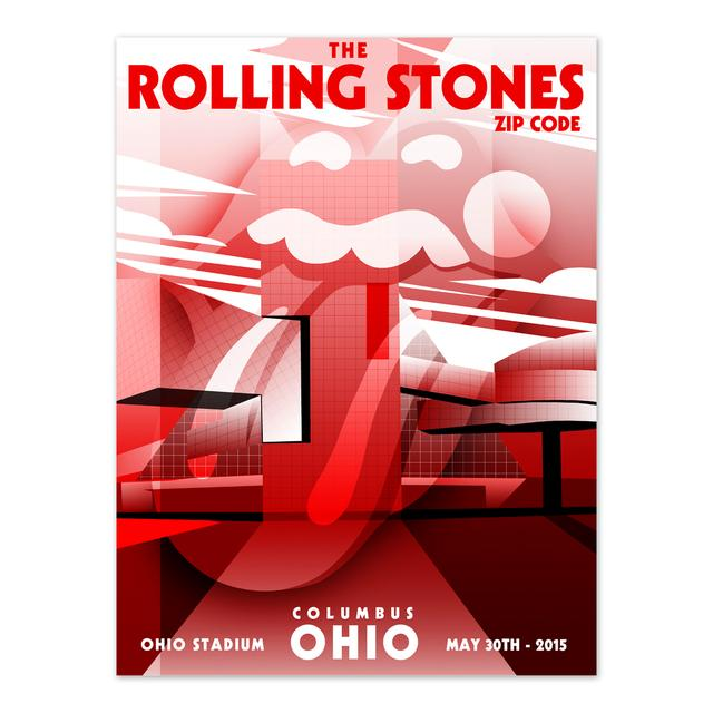 Rolling Stones Columbus Event Lithograph