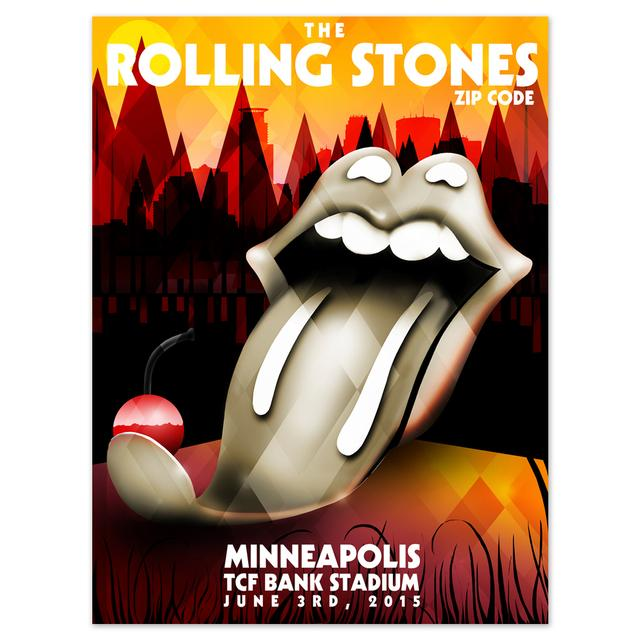 Rolling Stones Minneapolis Spoon Tongue Event Poster