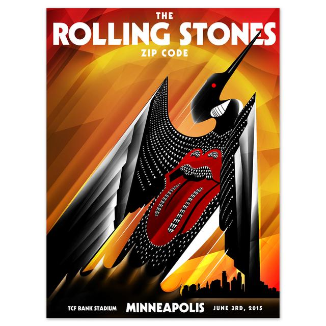 Rolling Stones Minneapolis Loon Event Lithograph