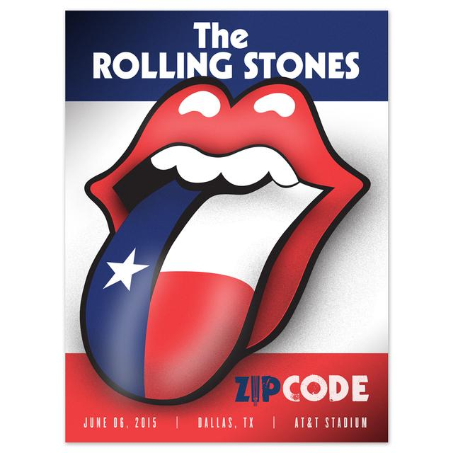 Rolling Stones Dallas Lone Star Event Litho