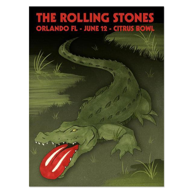 Rolling Stones Orlando Event Gator Litho