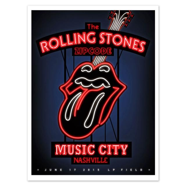 Rolling Stones Nashville Music City Litho