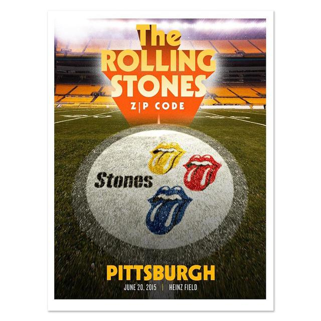 Rolling Stones Pittsburgh Event Litho