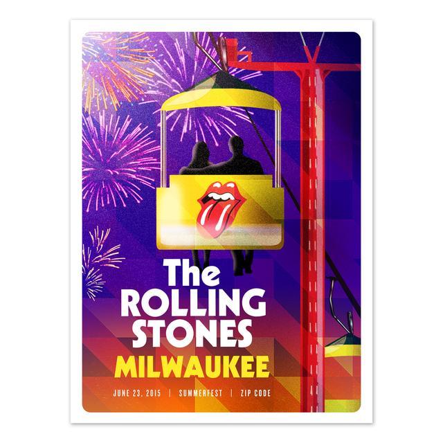 Rolling Stones Milwaukee Event Litho