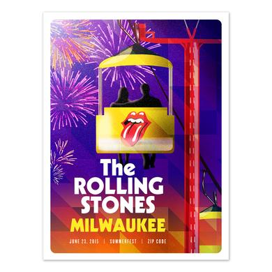 Rolling Stones Milwaukee Event Litho