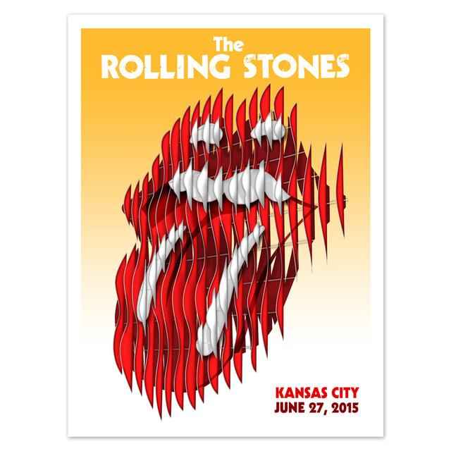 Rolling Stones Kansas City Event Litho