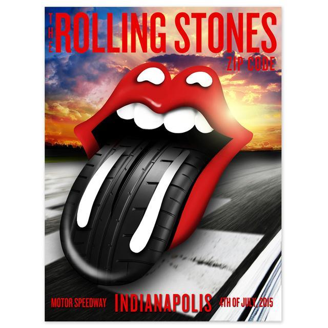 Rolling Stones Indianapolis Sunset Litho