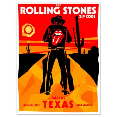 Rolling Stones Dallas Cowboy Event Litho