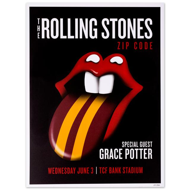 Rolling Stones - Grace Potter Minneapolis Event Litho