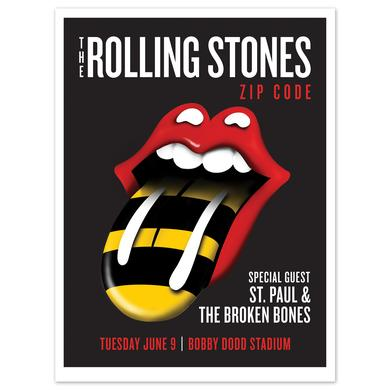 Rolling Stones - St. Paul and the Broken Bones Atlanta Event Litho