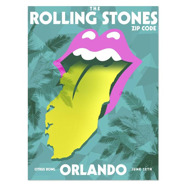 Rolling Stones Orlando Event Tongue Litho