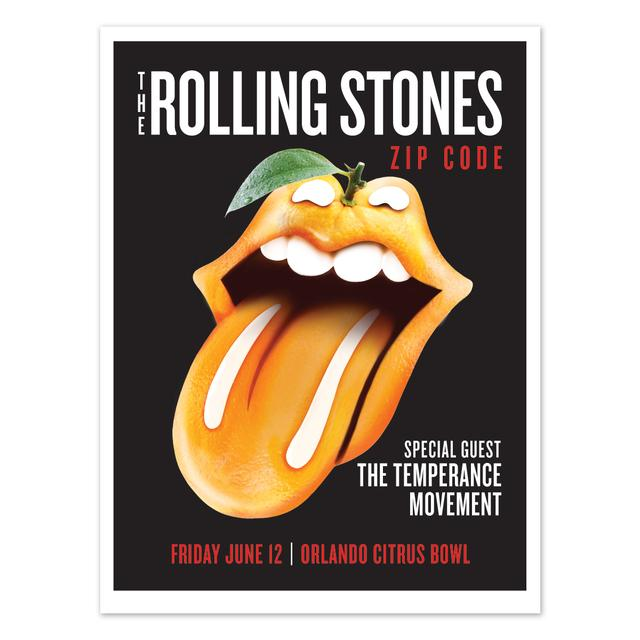 Rolling Stones - The Temperance Movement Orlando, FL Event Litho