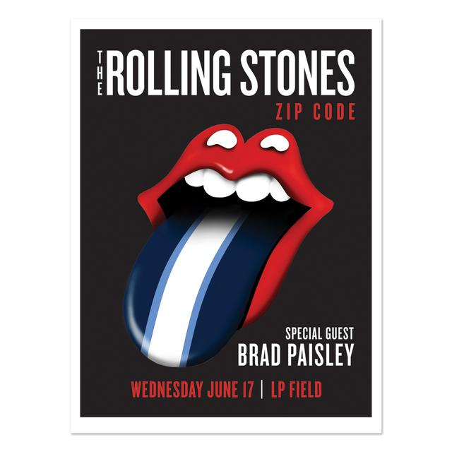 Rolling Stones - Brad Paisley Nashville Event Litho