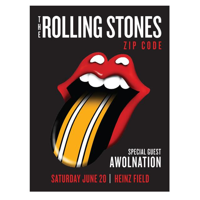 The Rolling Stones - AWOLNATION Pittsburgh Event Litho