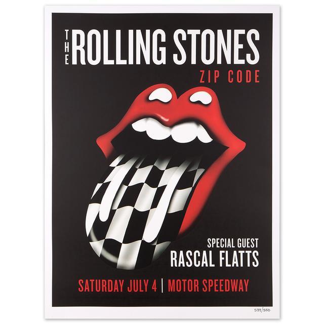 Rolling Stones - Rascal Flatts Indianapolis Zip Code Litho