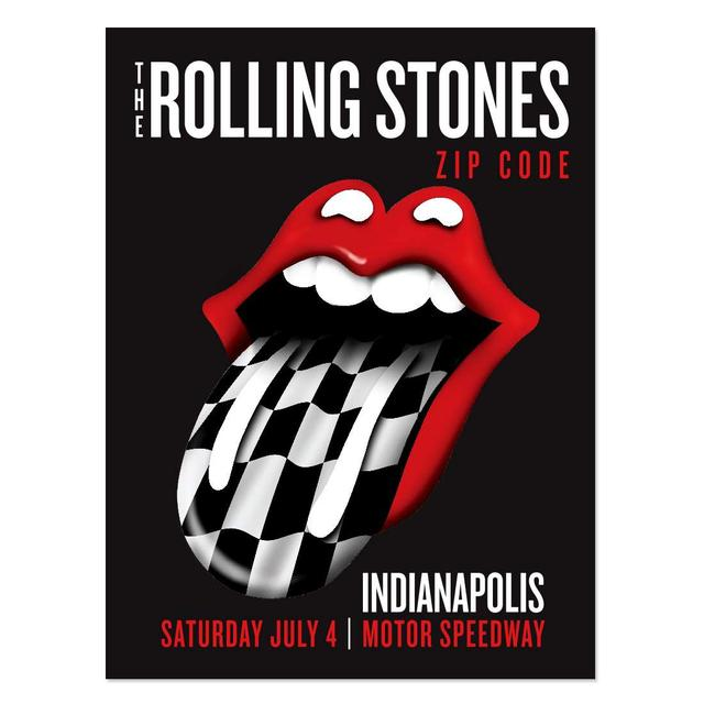 Rolling Stones Indianapolis Event Litho