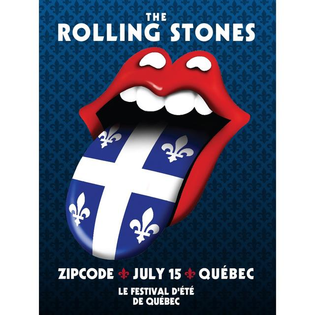 The Rolling Stones Quebec Event Litho
