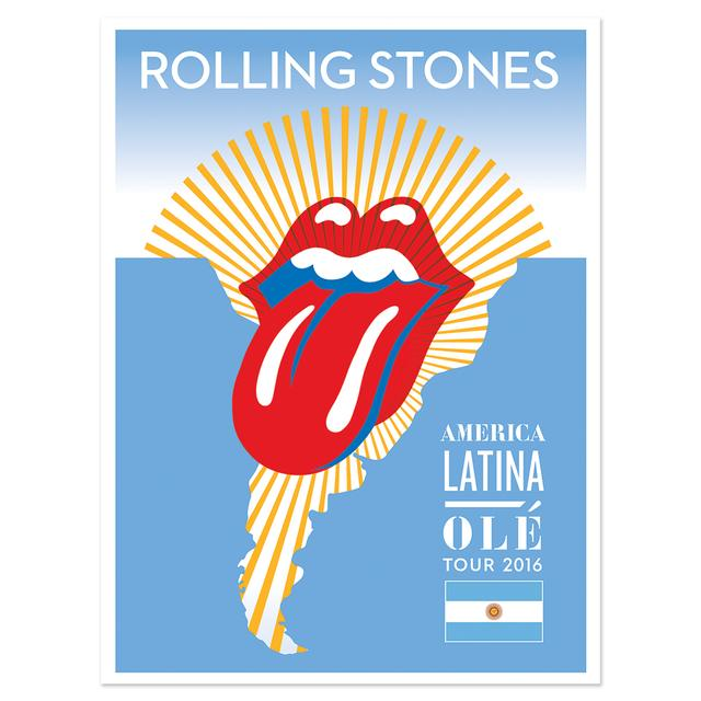 The Rolling Stones RS Argentina Litho
