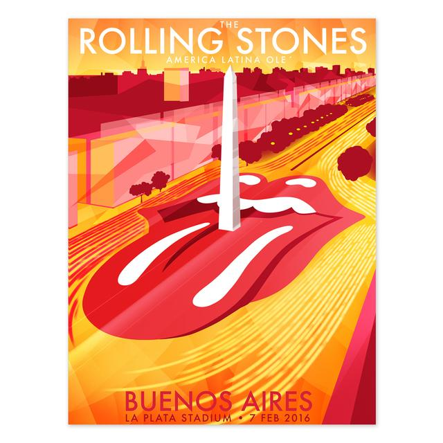 The Rolling Stones RS Buenos Aires Obelisk Litho
