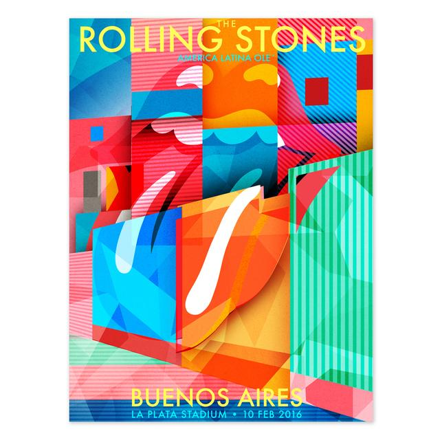 The Rolling Stones RS Buenos Aires La Boca Litho