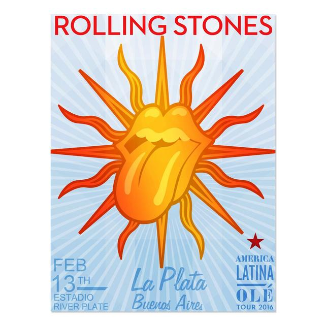 The Rolling Stones RS La Plata Argentina Litho