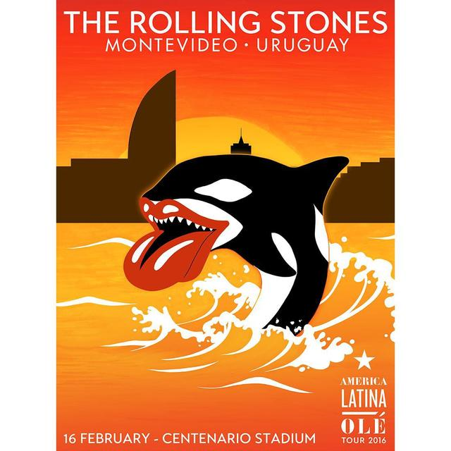 The Rolling Stones Montevideo, Uruguay Orca Lithograph