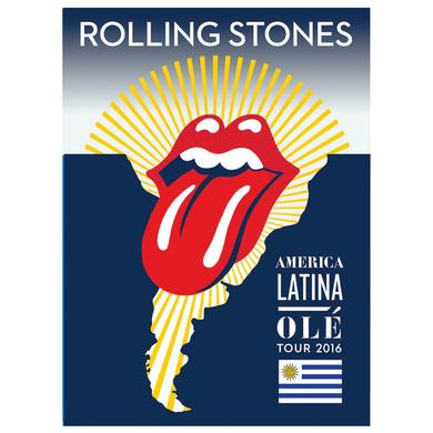 Rolling Stones Uruguay Lithograph