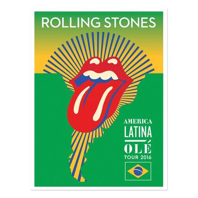 The Rolling Stones Brasil Lithograph