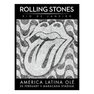 The Rolling Stones Rio De Janeiro Lithograph