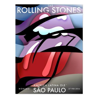 The Rolling Stones São Paulo Instituto Lithograph